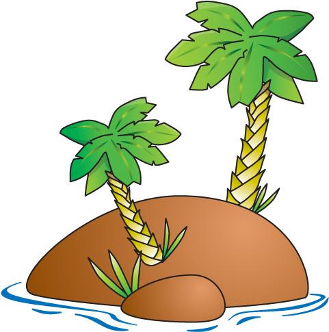 481x485 Cartoon Of Desert Island With Coconut Palm Stock Vector Id 46937