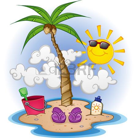 448x450 Island Paradise Cartoon Royalty Free Cliparts, Vectors, And Stock