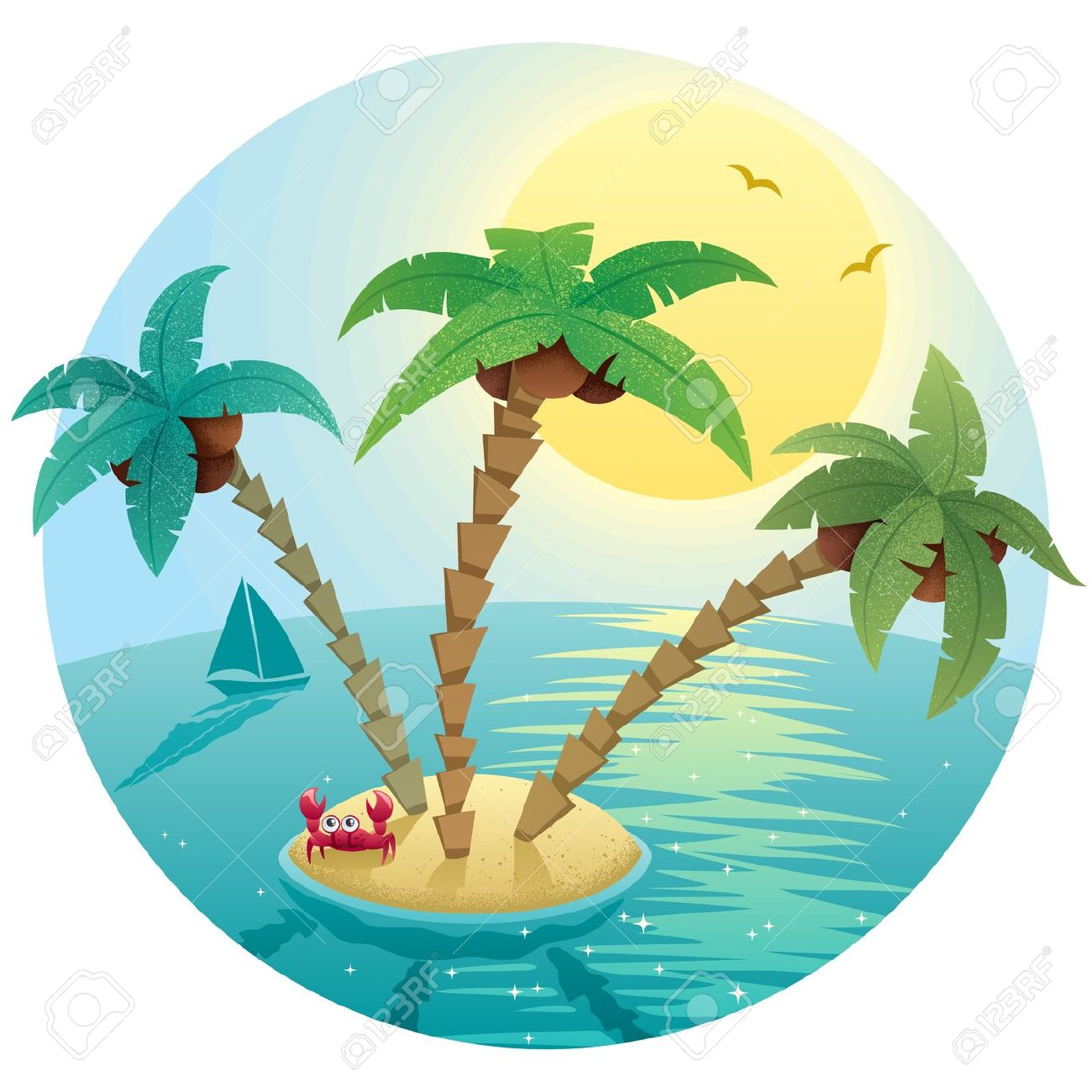 1300x1300 Outrigger Island Clipart