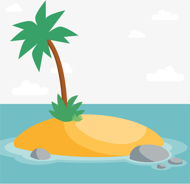 650x627 Small Island Of Cartoon, Small Island, Islands, Ocean Png