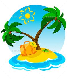 236x280 Cartoon Tropical Exotic Island In Ocean.top View Island Sprite