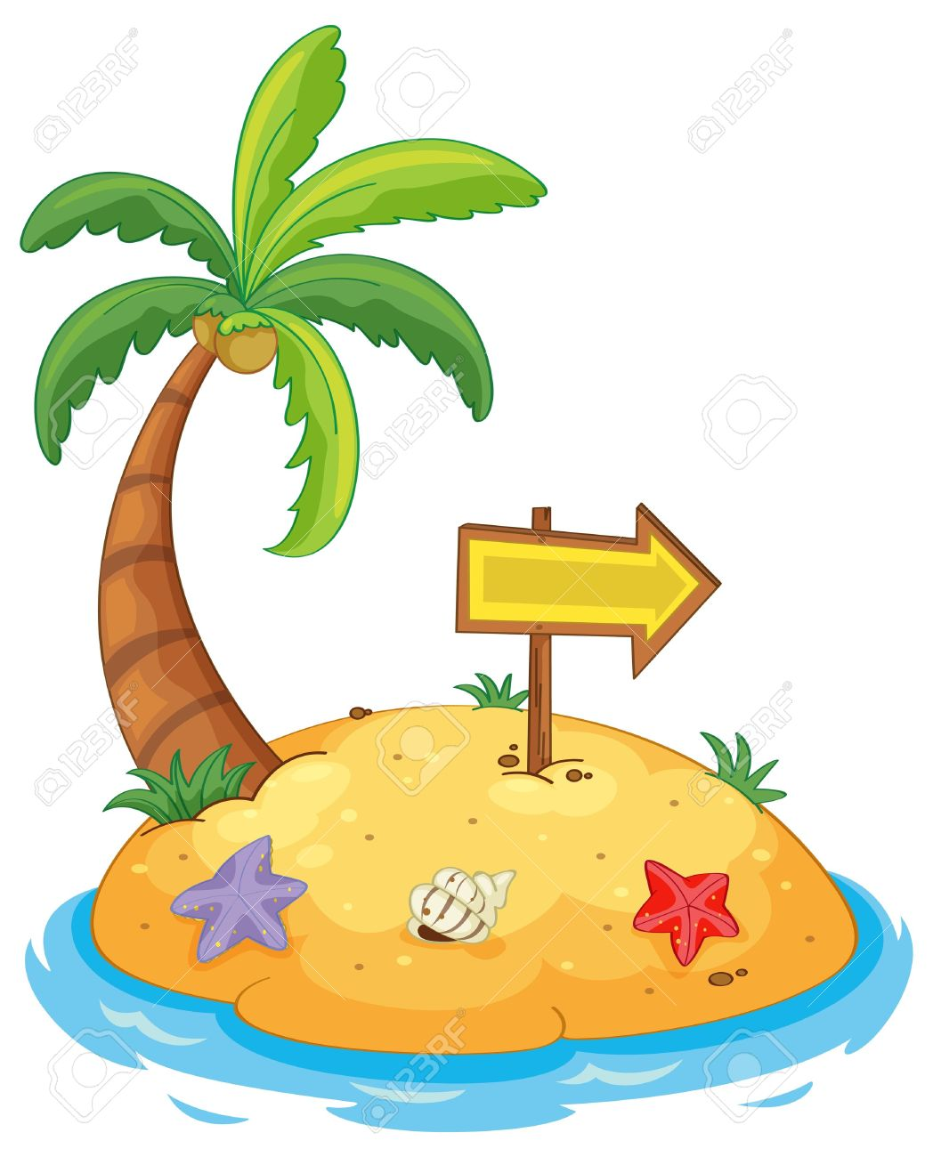1048x1300 Of An Island Paradise Stock Vector Island Cartoon Clipart Id 38801