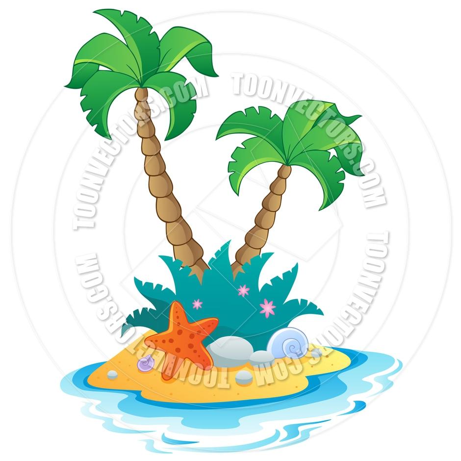 940x940 Cartoon Small Desert Island By Clairev Toon Vectors Eps