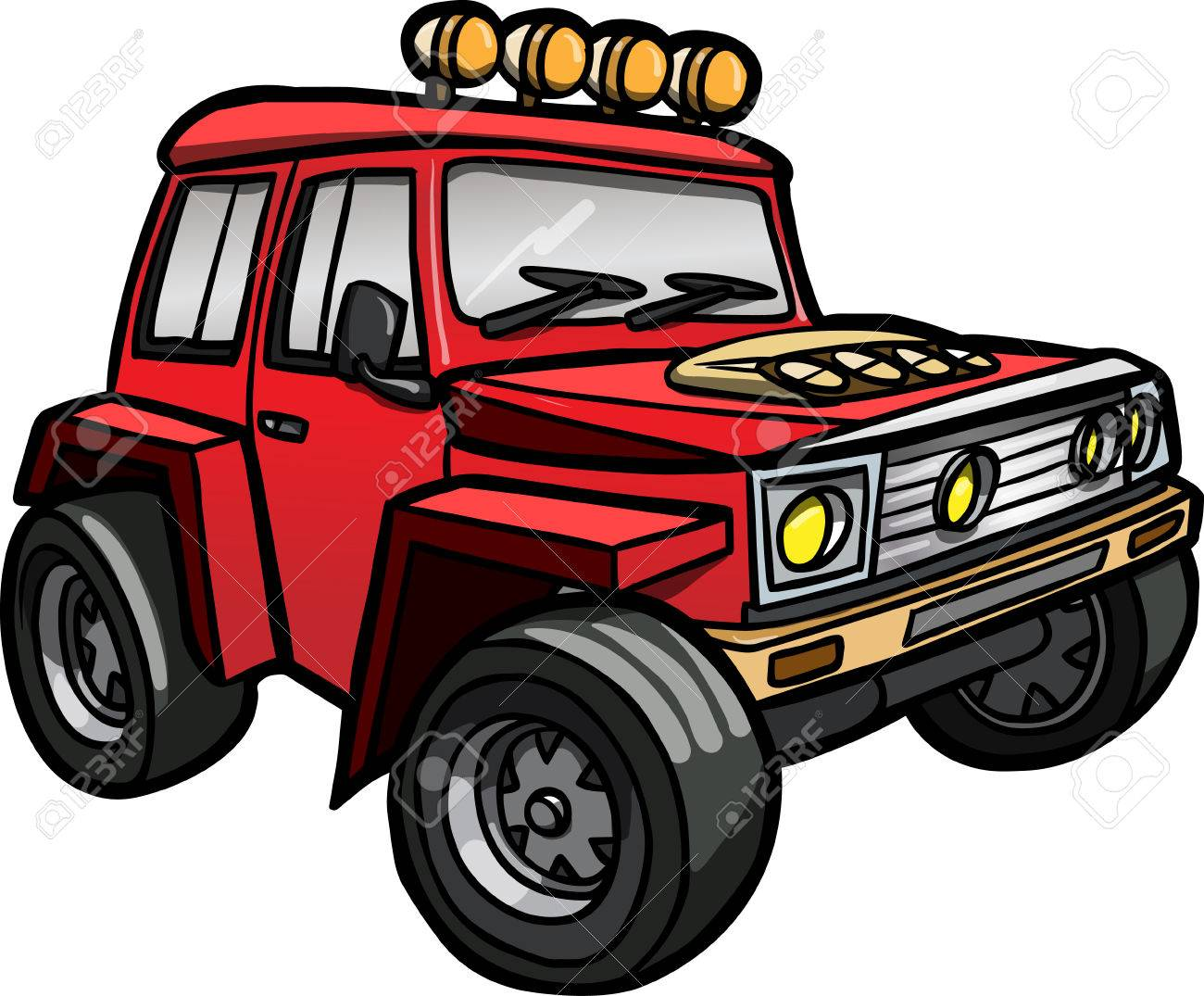 Cartoon Jeep Clipart