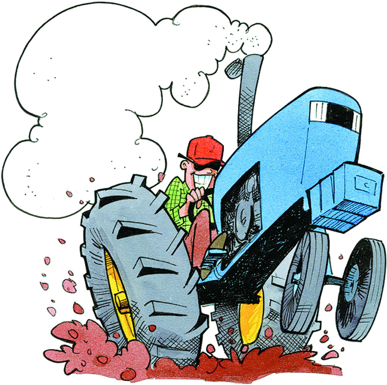 Vintage Tractor Cartoon : Cartoon john deere tractor clipart free download best