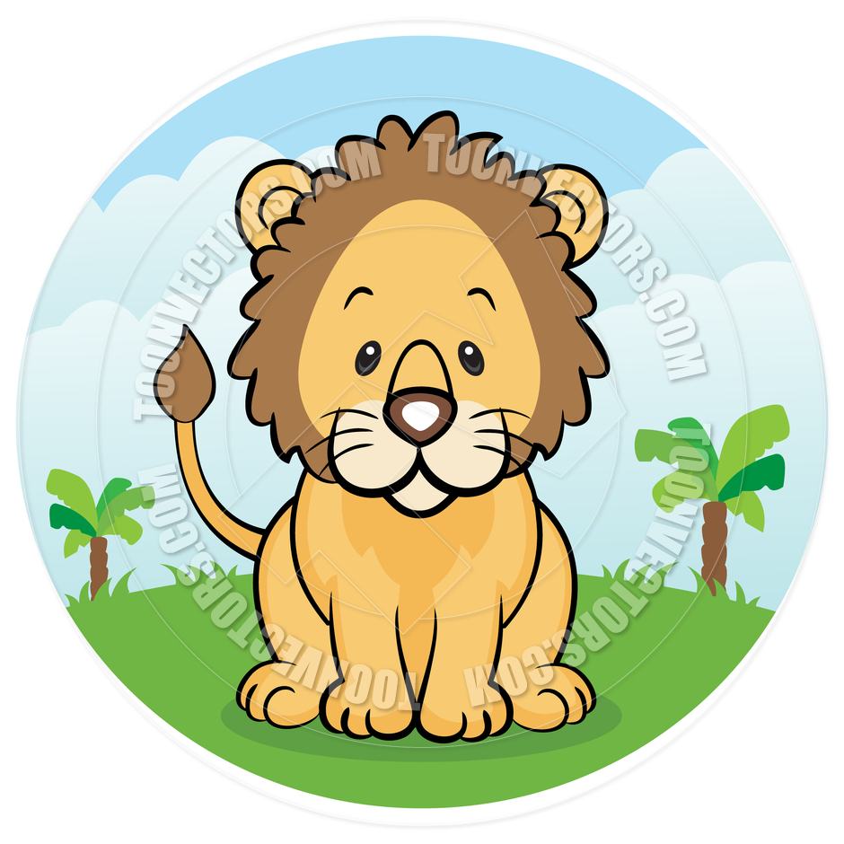 940x940 Cartoon Friendly Lion In The Jungle By Cartoongalleria Toon