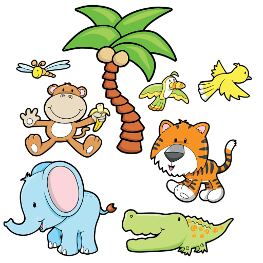 512x512 Cartoon Pictures Baby Animals Group