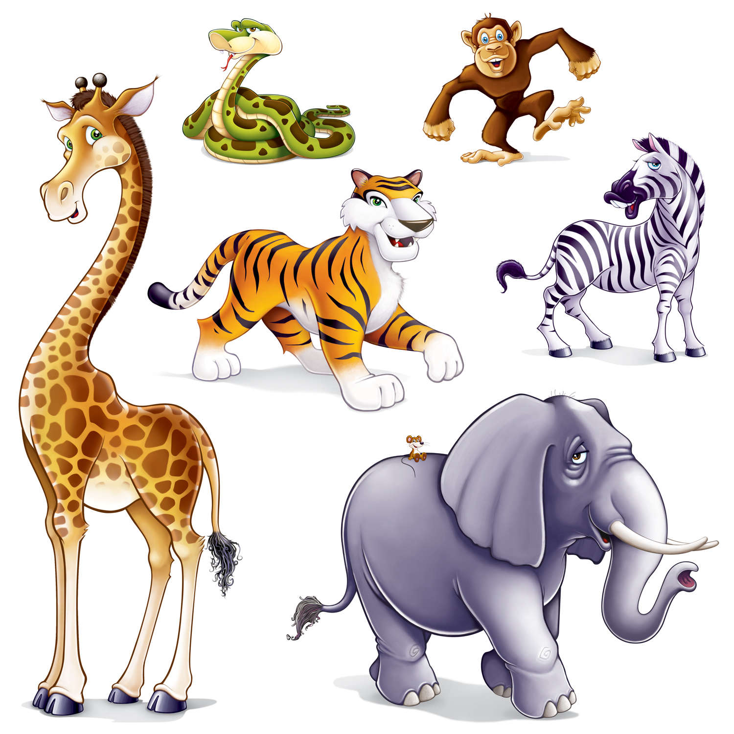 1500x1500 Wildlife Clipart Cartoon Safari Animal