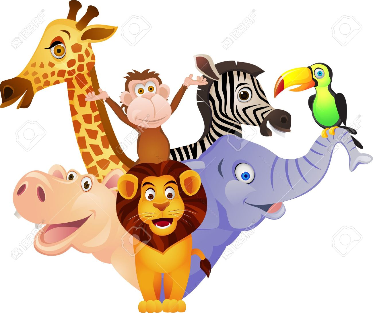 1300x1091 Animal Cartoon Stock Photo, Picture And Royalty Free Image. Image