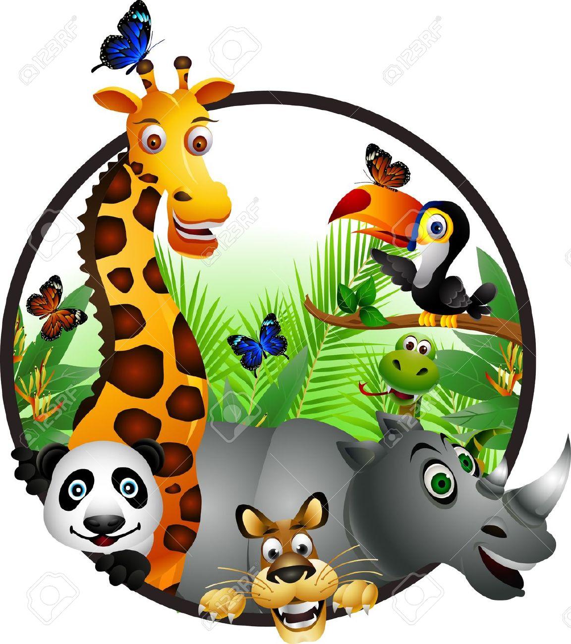 Cartoon Jungle Animals Clipart | Free download on ClipArtMag