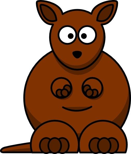 504x593 Cartoon Kangaroo Clip Art Free Vector In Open Office Drawing Svg