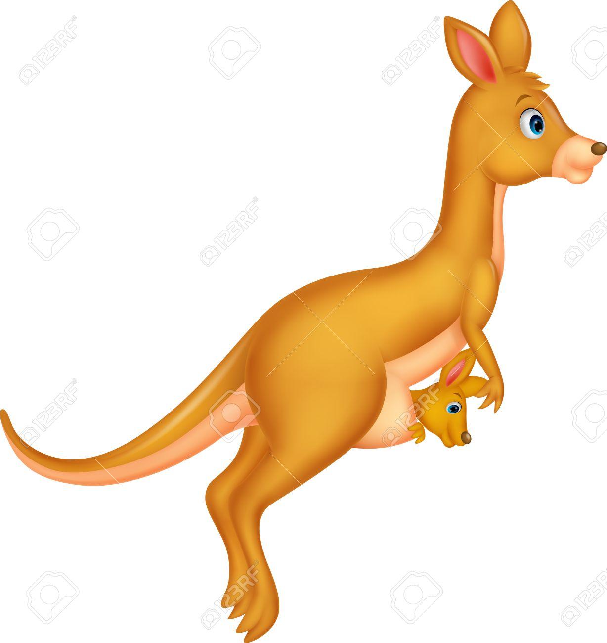 1228x1300 Mother And Baby Kangaroo Cartoon Royalty Free Cliparts, Vectors