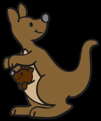 351x419 Cute Kangaroo Cartoon