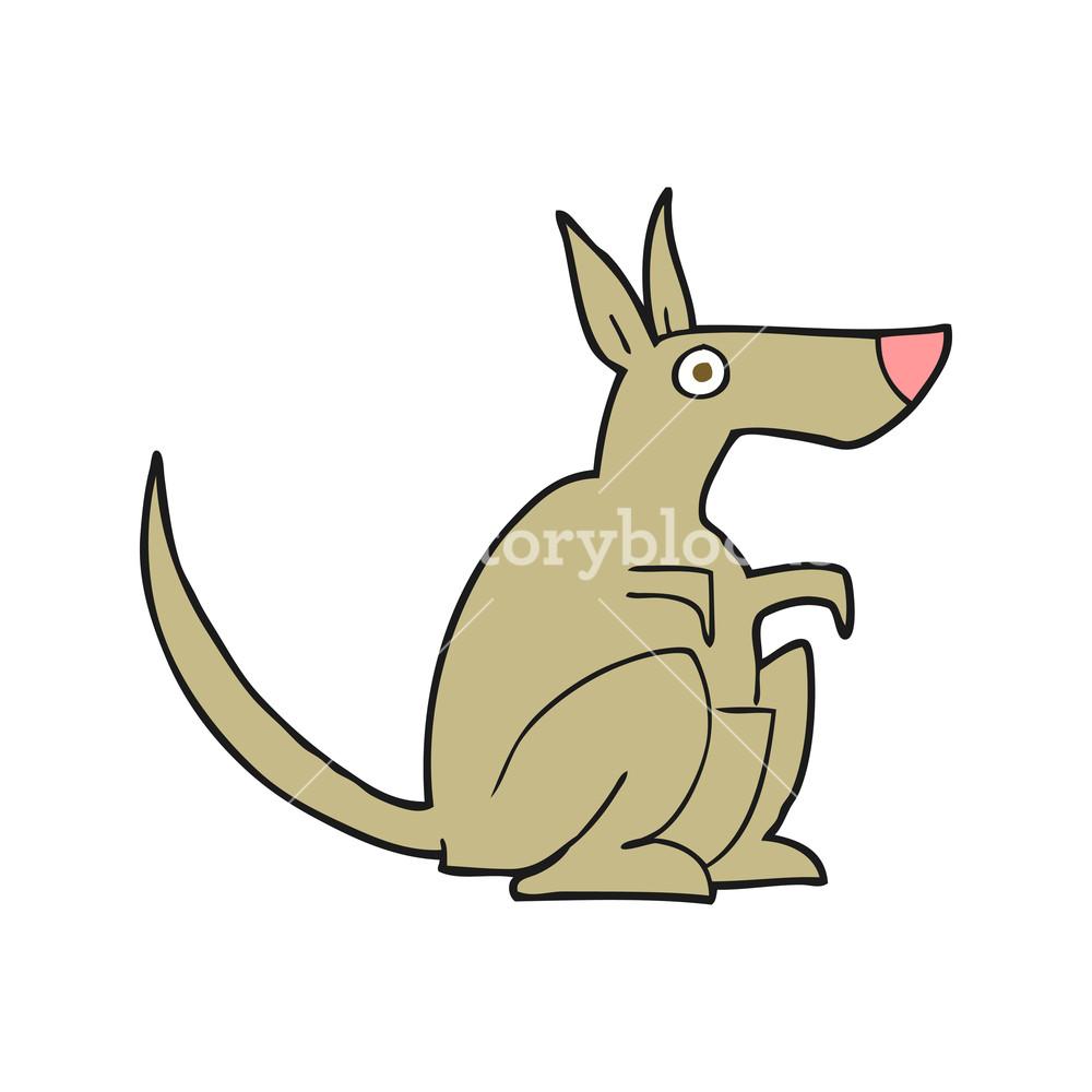 1000x1000 Freehand Drawn Cartoon Kangaroo Royalty Free Stock Image