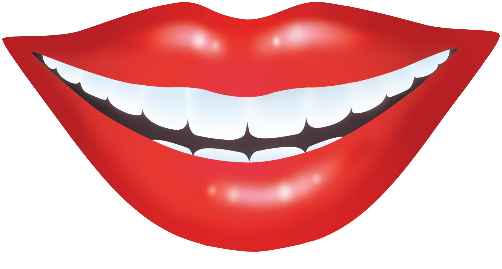 Cartoon Kissy Lips Clipart