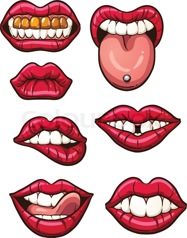 628x800 Lips Clipart Easy Cartoon