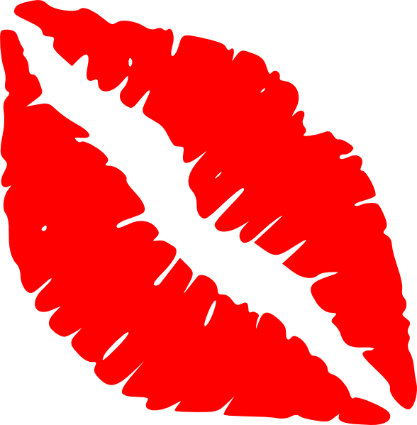 588x599 Red Lips Kiss Clip Art