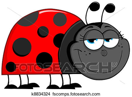 450x329 Clipart Of Ladybug Cartoon Character K8834324