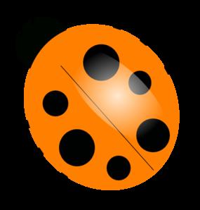 285x298 Orange Ladybugs Clip Art