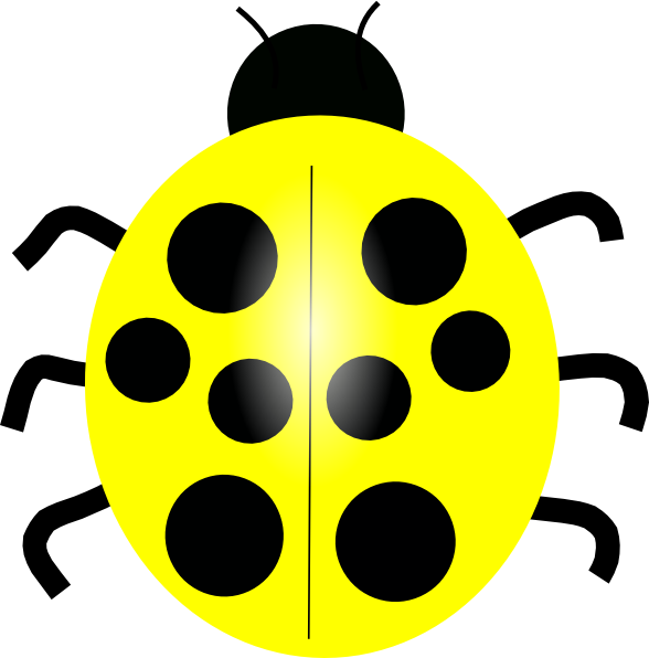 588x596 Yellow Ladybug Clip Art