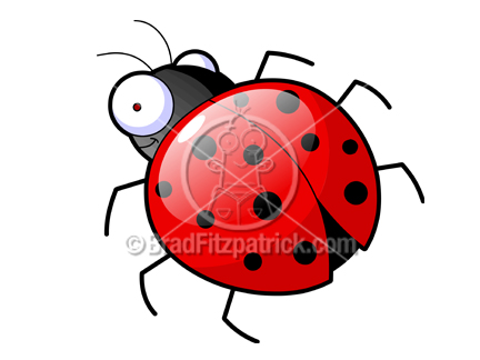 432x324 Cartoon Ladybug Clipart Character Royalty Free Lady Bug Picture