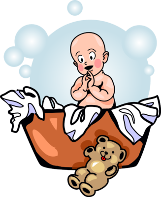 327x400 Image Laundry Basket Baby Baby Clip Art