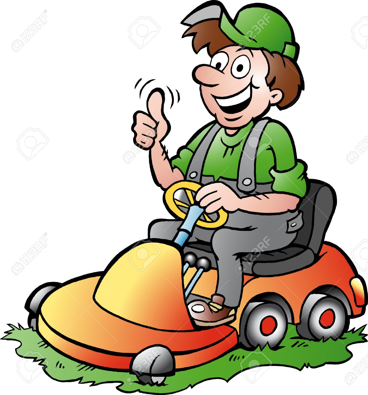 Cartoon Lawn Mower Clipart