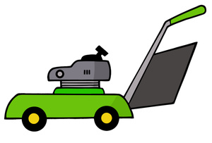 300x203 Clipart Lawn Mowing