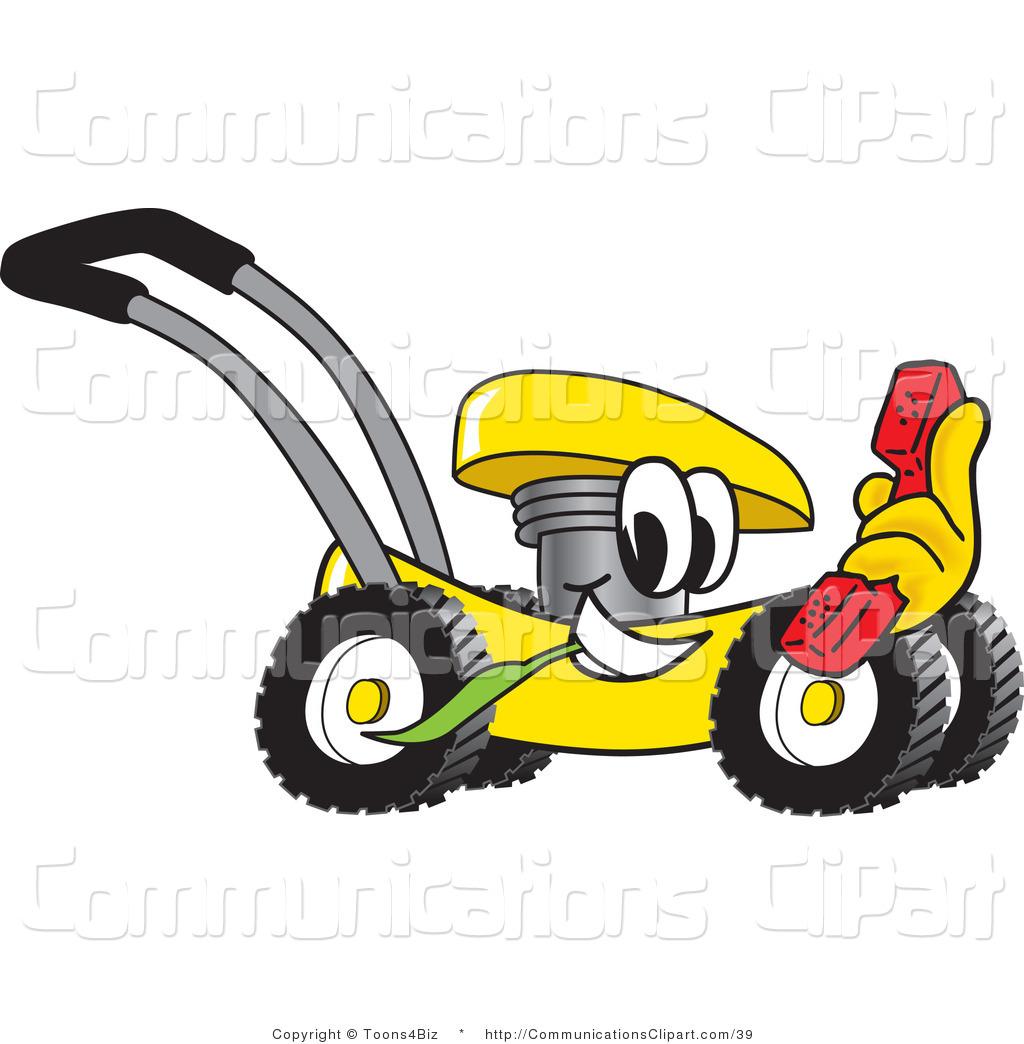 1024x1044 Communication Clipart Of A Yellow Cartoon Lawn Mower Mascot