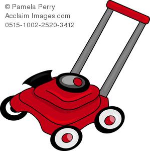 299x300 Art Illustration Of A Cartoon Lawn Mower