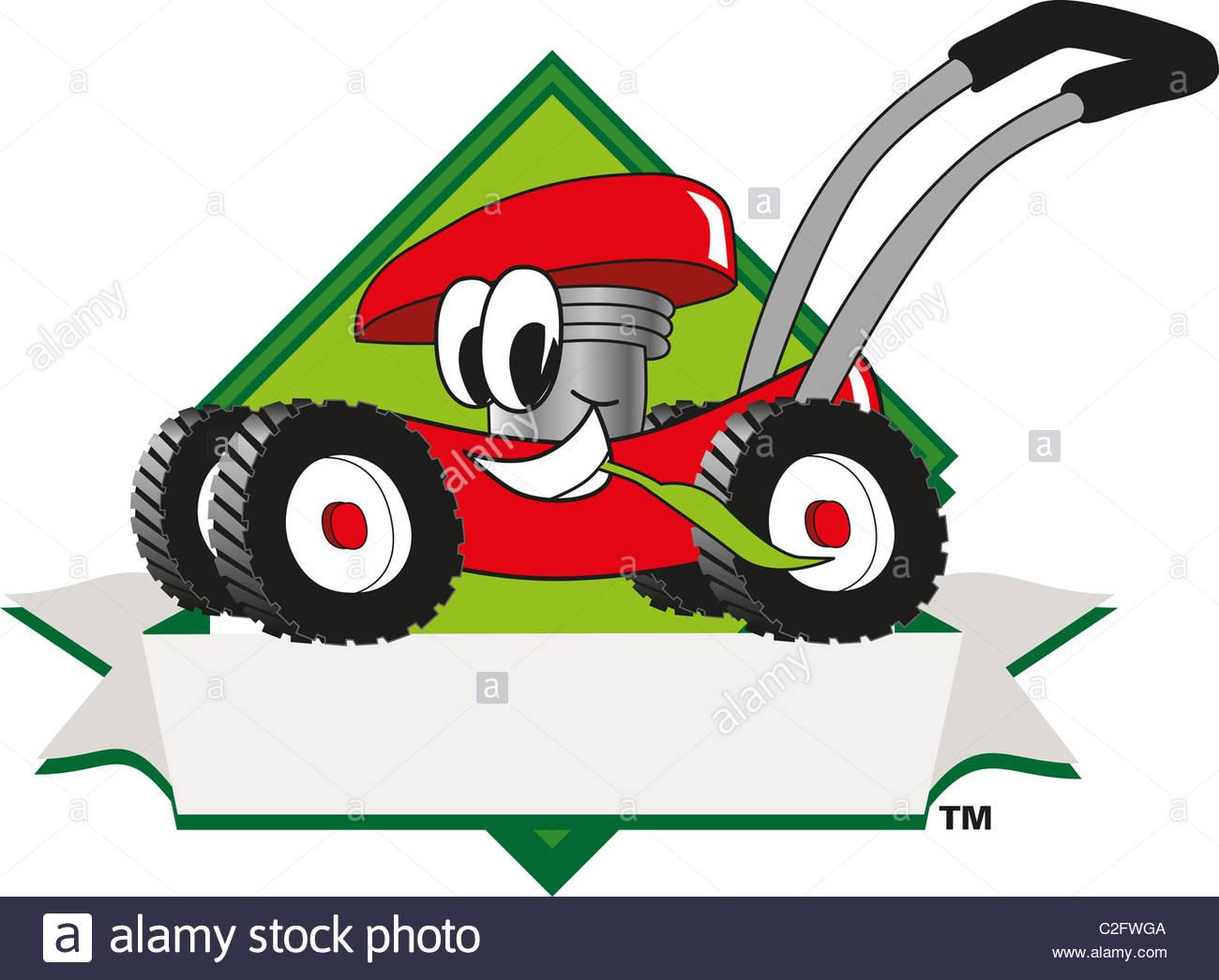 1300x1046 Cartoon Lawn Mower Clip Art And Logo Template Stock Photo, Royalty