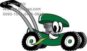 300x179 Cartoon Lawn Mower Smiling