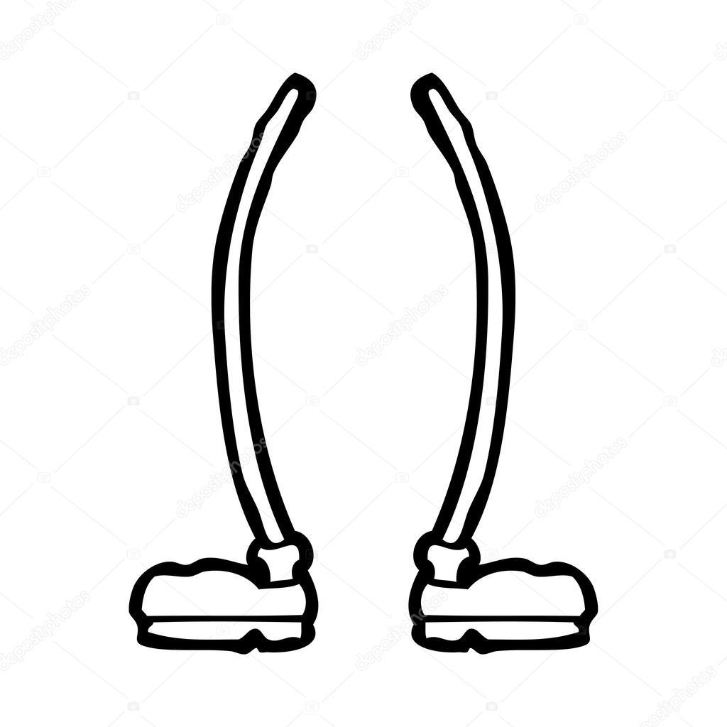 1024x1024 Cartoon Legs Stock Vector Lineartestpilot