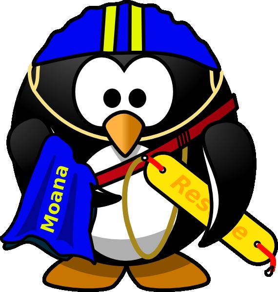 570x598 Penguin Lifeguard Clip Art