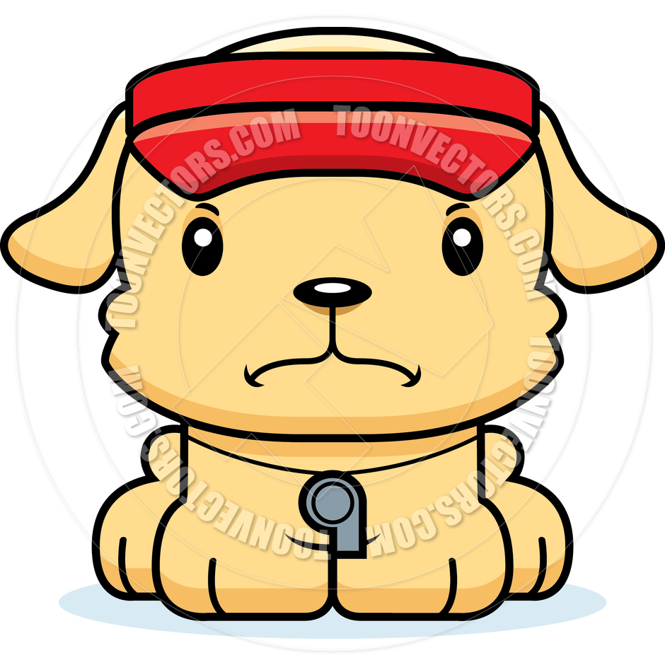 940x940 Cartoon Angry Lifeguard Puppy By Cory Thoman Toon Vectors Eps
