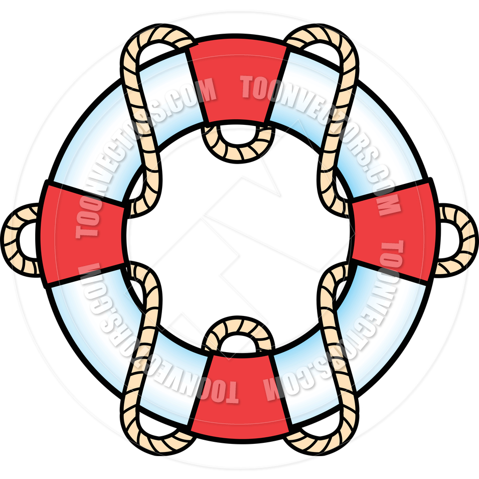940x940 Cartoon Life Preserver Vector Illustration By Clip Art Guy Toon