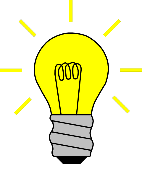 480x596 Light Bulb On Clip Art