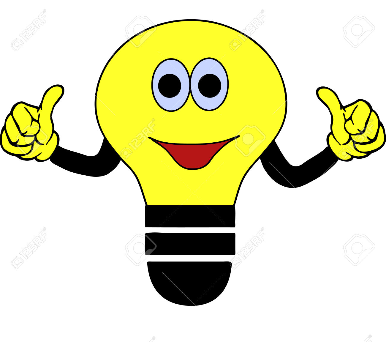 1300x1151 Light Bulb Clipart Happy