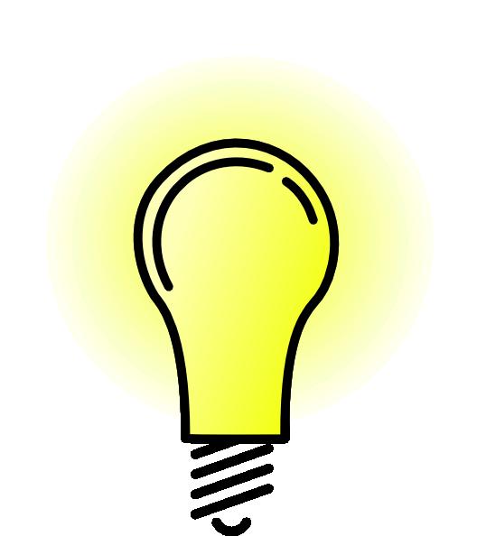 528x594 Lightbulb Brightlit Clip Art