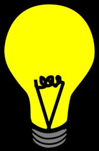 195x296 Yellow Light Bulb Clip Art