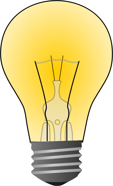 442x728 Cartoon Electricity Light Bulb Clip Art Set Image