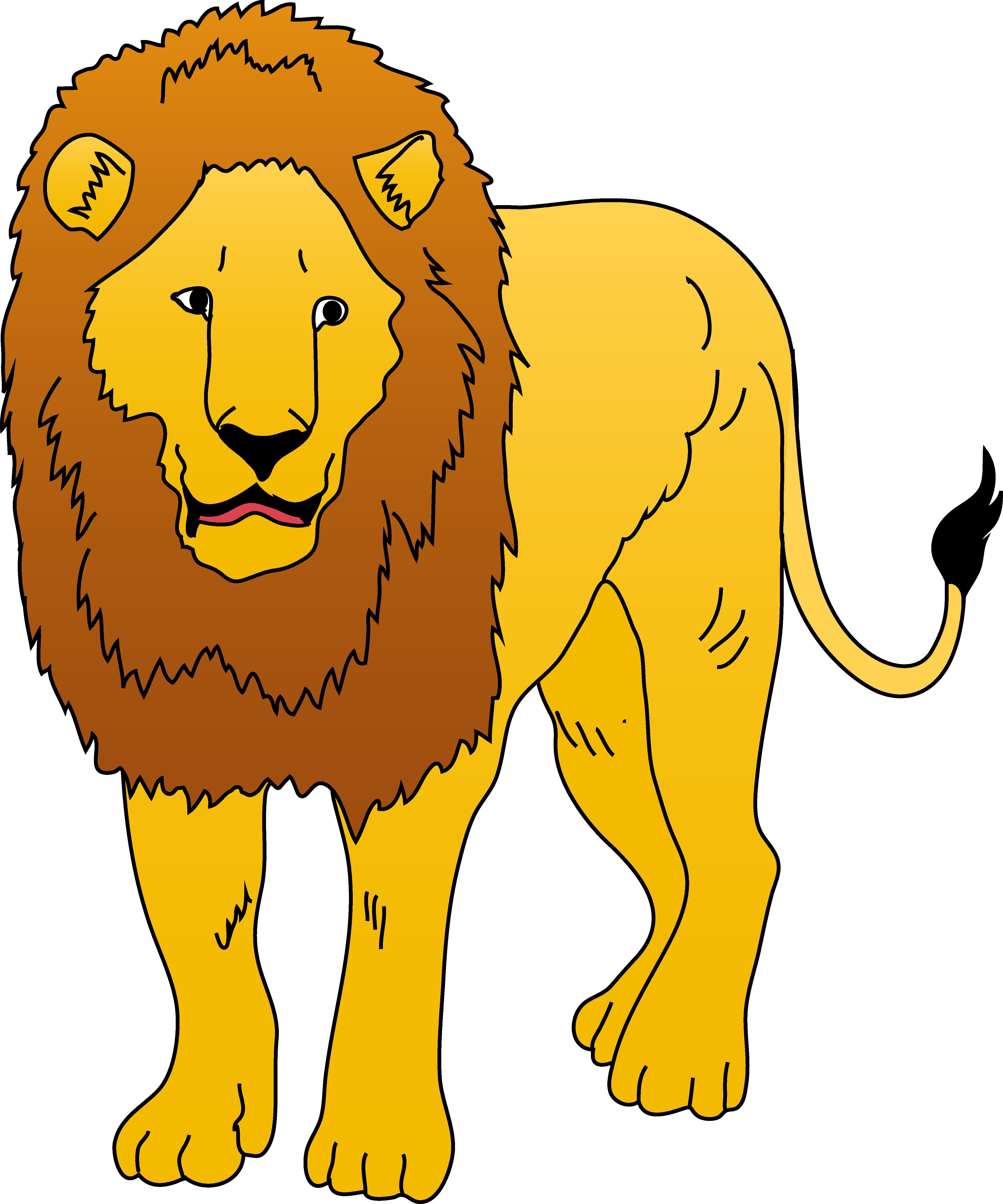 4464x5359 Golden Lion Clipart Illustration