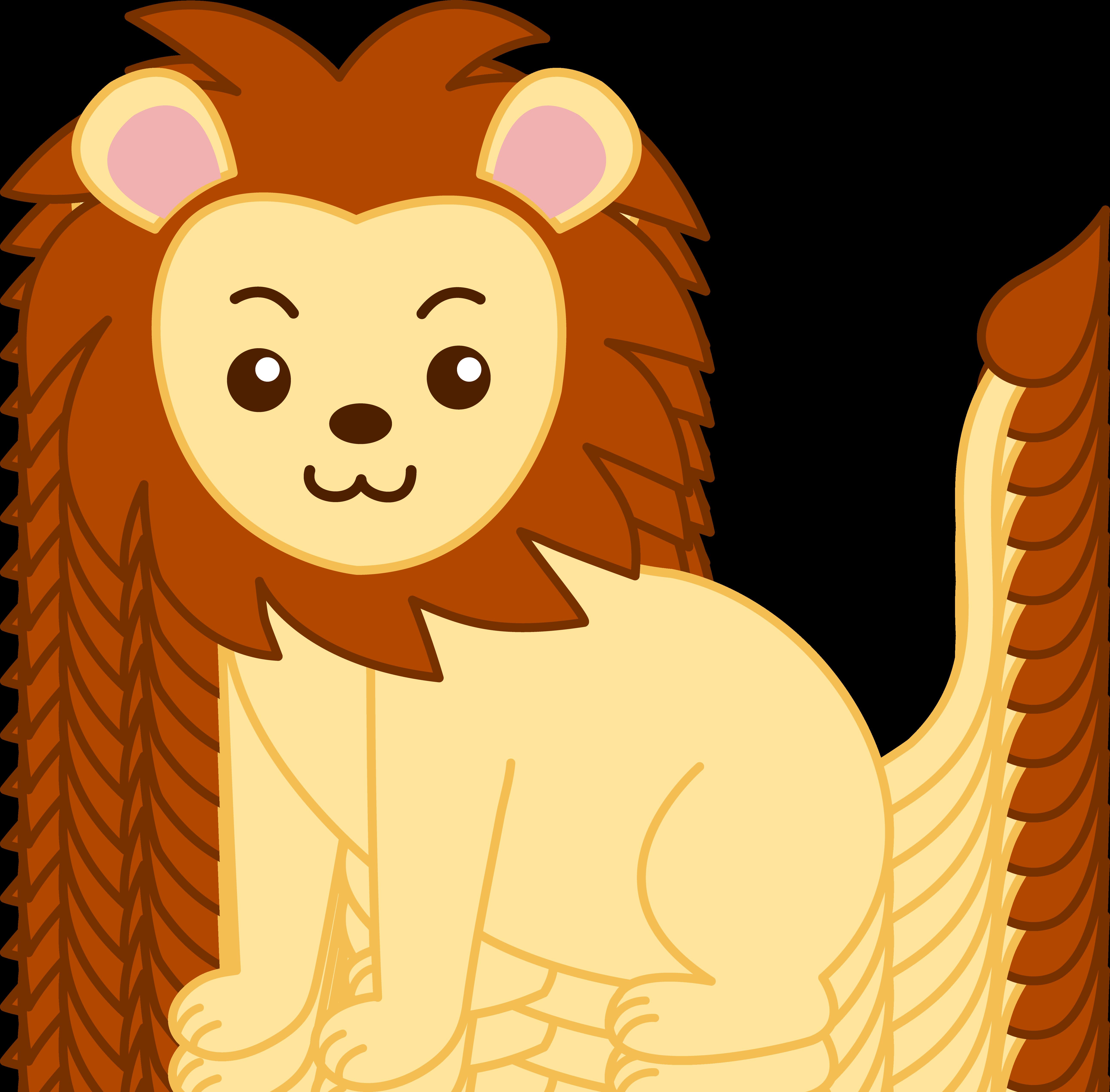 5171x5087 Little Golden Lion Clip Art