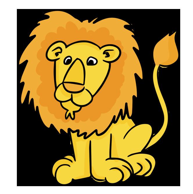 664x668 Cartoon Male Lion Clip Art Clipart Panda