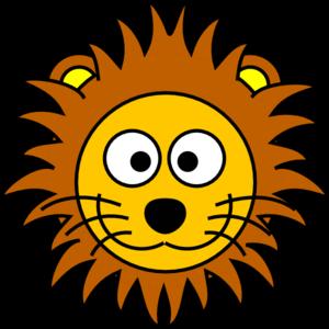 300x300 Cartoon Golden Lion 2 Clip Art