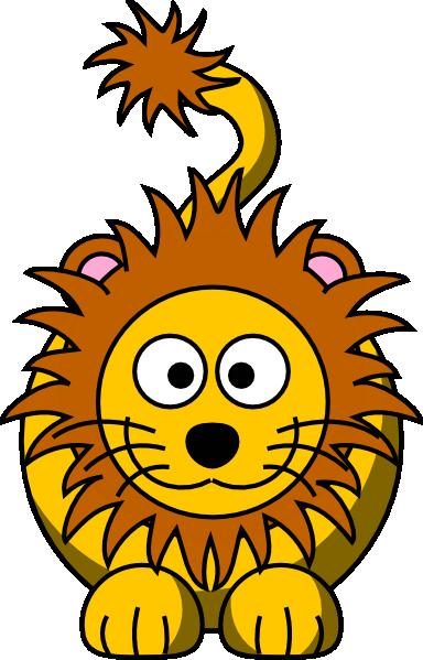 384x599 Cartoon Golden Lion Clip Art