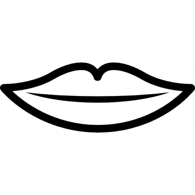 626x626 Lips Black And White Black And White Clip Art
