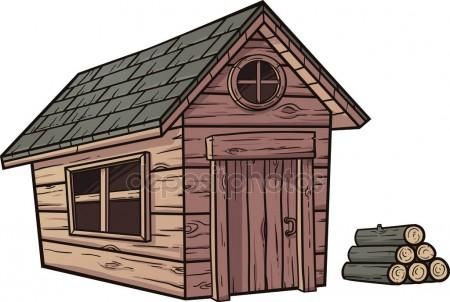 Cartoon Log Cabin