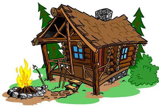 Cartoon log cabin free download best