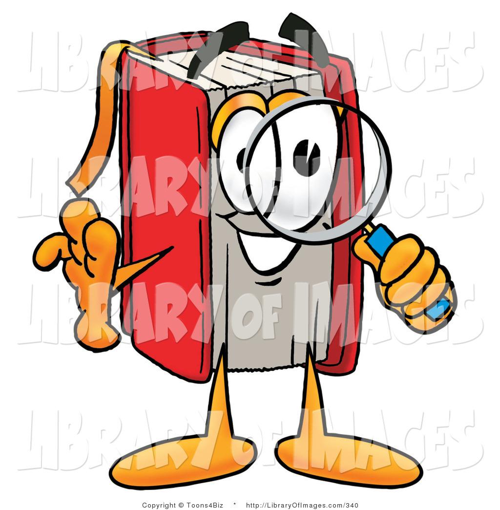 1024x1044 Clip Art Of A Smart Red Book Mascot Cartoon Character Looking